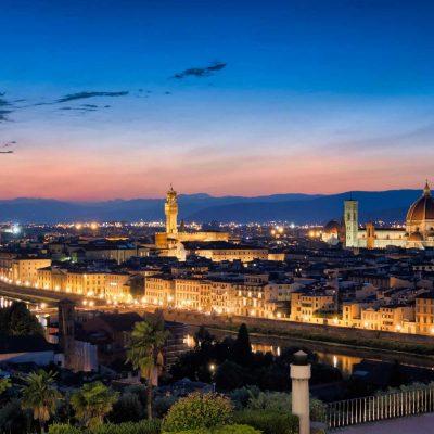 Sunset over Florence, Tuscany, Italy