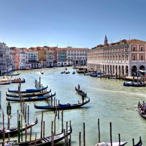 Grand Canal water boats, Venice, northern Italy