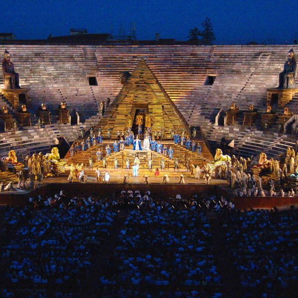 Verdi's Aida played at the Arena in Verona, northern Italy