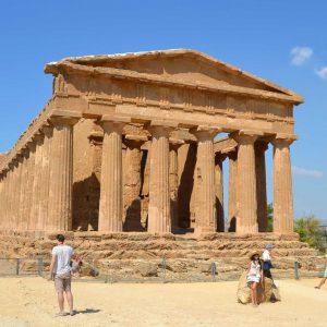 The Concordia Temple, Valle dei Templi, Agrigento, Sicily, Italy