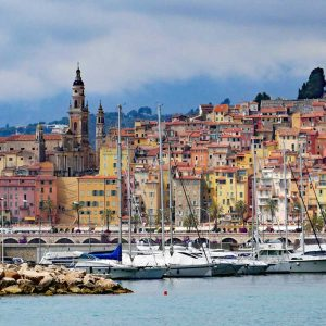 Menton harbour, south of France tours